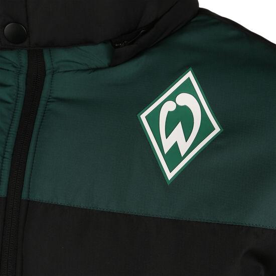 SV Werder Bremen Icon Puffa Winterjacke Herren, schwarz / dunkelgrün, zoom bei OUTFITTER Online