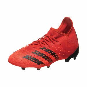 Predator Freak .1 FG Fußballschuh Kinder, rot / schwarz, zoom bei OUTFITTER Online