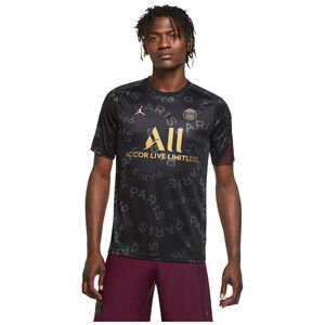 Paris St.-Germain Pre-Match Trainingsshirt Herren, schwarz / bordeaux, zoom bei OUTFITTER Online