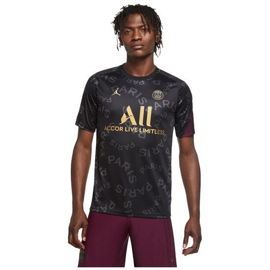 Paris St.-Germain Pre-Match Trainingsshirt Herren, schwarz / bordeaux, zoom bei OUTFITTER Online