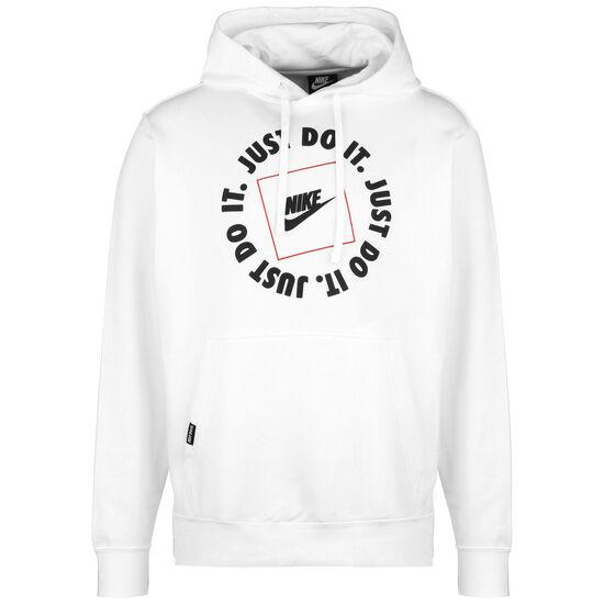 JDI Fleece Kapuzenpullover Herren, weiß / schwarz, zoom bei OUTFITTER Online