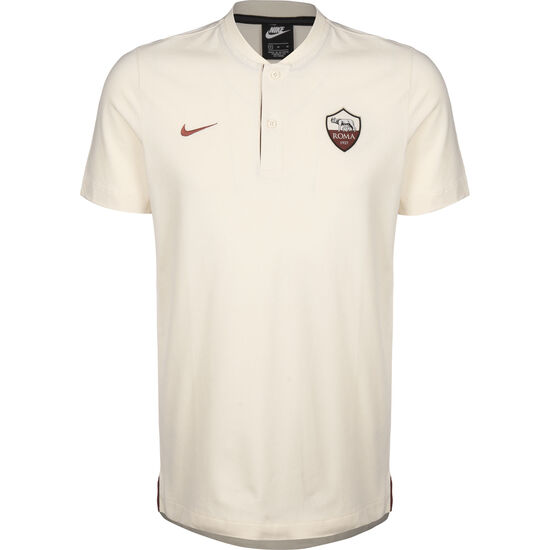 AS Rom Modern Authentic Poloshirt Herren, beige / rot, zoom bei OUTFITTER Online