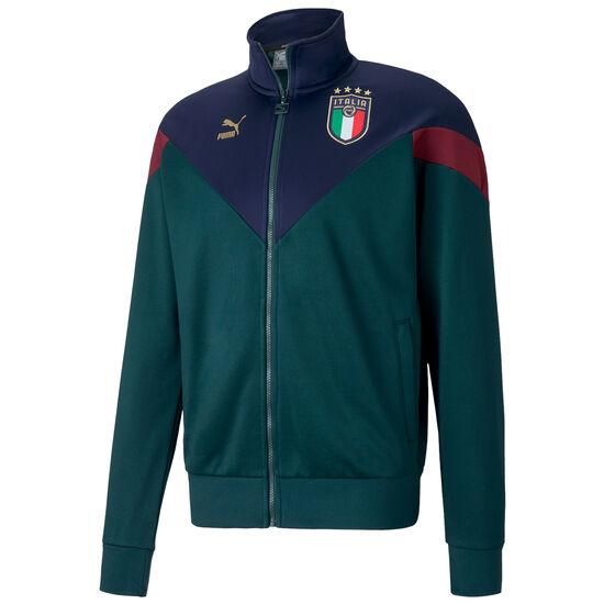 FIGC Italien Iconic MCS Track Jacke EM 2020 Herren, dunkelgrün / blau, zoom bei OUTFITTER Online