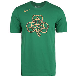 NBA Boston Celtics City Edition Dry Logo T-Shirt Herren, grün / gold, zoom bei OUTFITTER Online