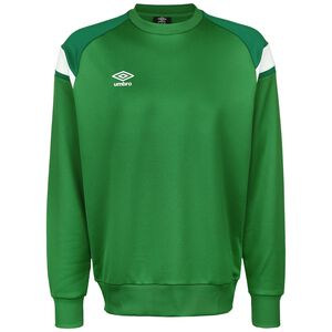 Poly Fleece Trainingssweat Herren, grün / weiß, zoom bei OUTFITTER Online