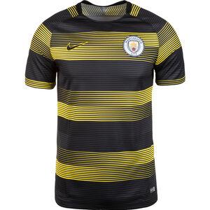 Manchester City Dry Squad GX Trainingsshirt Herren, gelb / schwarz, zoom bei OUTFITTER Online
