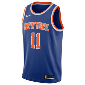 NBA New York Knicks #11 Ntilikina Basketballtrikot Herren, blau / orange, zoom bei OUTFITTER Online