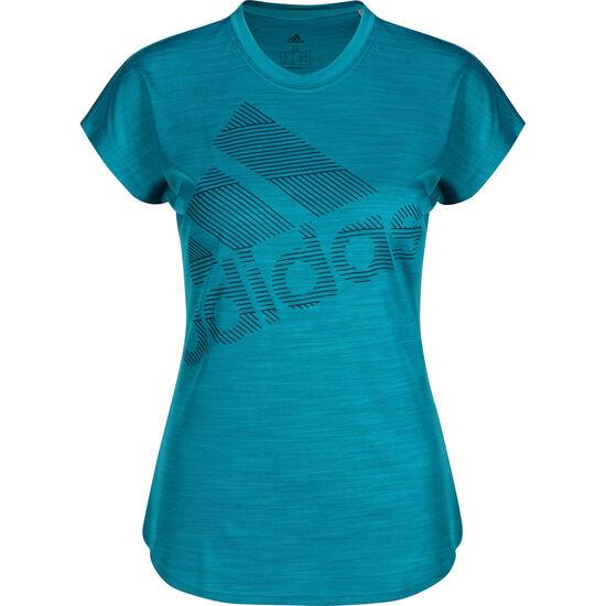 Badge of Sport Trainingsshirt Damen, petrol, zoom bei OUTFITTER Online