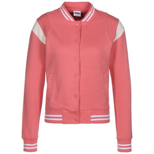Inset College Sweatjacke Damen, rosa / weiß, zoom bei OUTFITTER Online