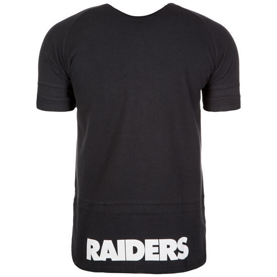NFL Oakland Raiders Panel Pique T-Shirt, Schwarz, zoom bei OUTFITTER Online