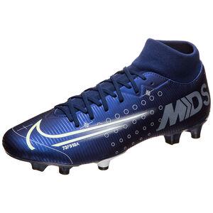 Mercurial Superfly 7 Academy MDS MG Fußballschuh Herren, blau / gelb, zoom bei OUTFITTER Online