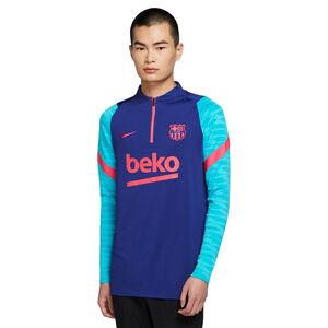 FC Barcelona Strike Drill Longsleeve Herren, blau / türkis, zoom bei OUTFITTER Online