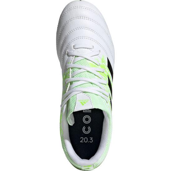 Copa 20.3 FG Fußballschuh Kinder, weiß / neongrün, zoom bei OUTFITTER Online