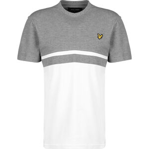 Panel Stripe T-Shirt Herren, grau / weiß, zoom bei OUTFITTER Online
