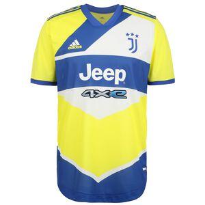 Juventus Turin Trikot 3rd Authentic 2021/2022 Herren, neongelb / blau, zoom bei OUTFITTER Online