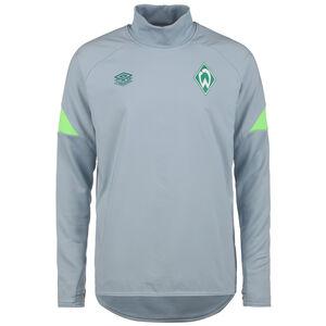 SV Werder Bremen Drill Trainingssweat Herren, hellgrau / neongrün, zoom bei OUTFITTER Online