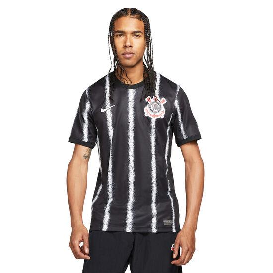 SC Corinthians Paulista Trikot Away Stadium 2021/2022 Herren, schwarz / weiß, zoom bei OUTFITTER Online