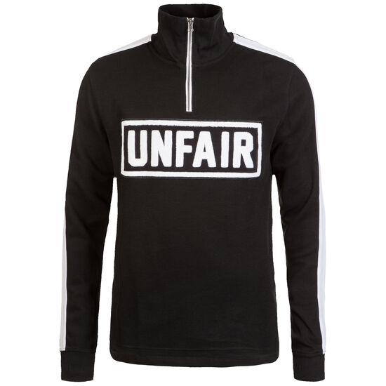 Rib Halfzip Pullover Herren, schwarz / weiß, zoom bei OUTFITTER Online