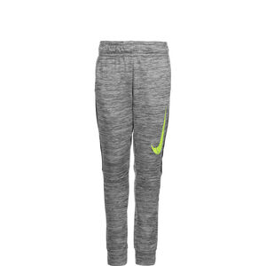 Therma Tapered Trainingshose Kinder, grau / neongelb, zoom bei OUTFITTER Online