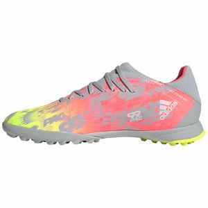 X Speedflow.3 TF Fußballschuh Herren, grau / gelb, zoom bei OUTFITTER Online