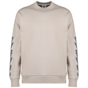 Taped Drop Shoulder Sweatshirt Herren, beige / schwarz, zoom bei OUTFITTER Online