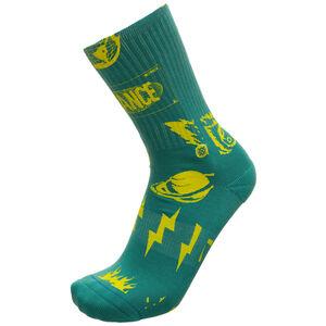 Meteorite Socken Herren, grün / gelb, zoom bei OUTFITTER Online