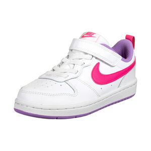 Court Borough Low Sneaker Kinder, weiß / pink, zoom bei OUTFITTER Online
