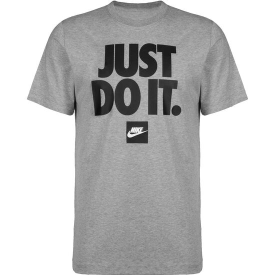 Just Do It T-Shirt Herren, grau / schwarz, zoom bei OUTFITTER Online