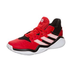 Harden Stepback Basketballschuh Kinder, rot / schwarz, zoom bei OUTFITTER Online