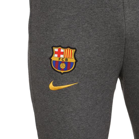 FC Barcelona Fleece Trainingshose Herren, anthrazit / gelb, zoom bei OUTFITTER Online