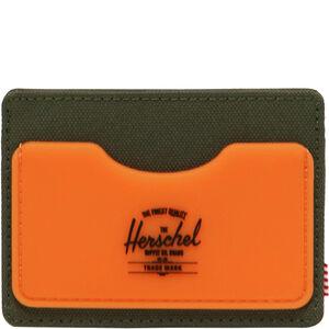 Charlie Rubber RFID Geldbeutel, oliv / orange, zoom bei OUTFITTER Online