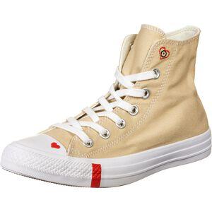 Chuck Taylor All Star Love Fearlessly High Sneaker Damen, beige / rot, zoom bei OUTFITTER Online