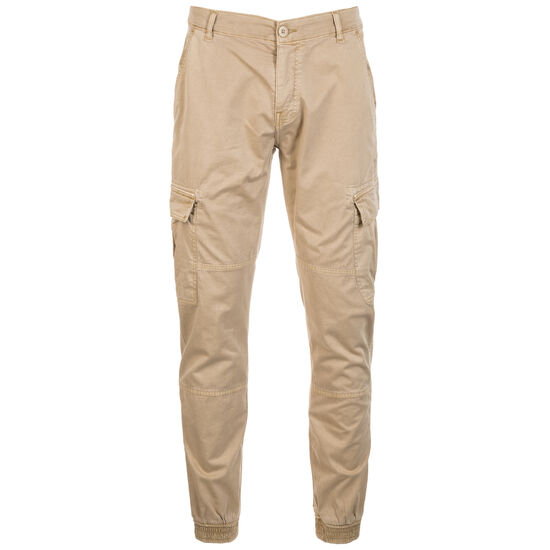 Washed Cargo Twill Jogginghose Herren, beige, zoom bei OUTFITTER Online