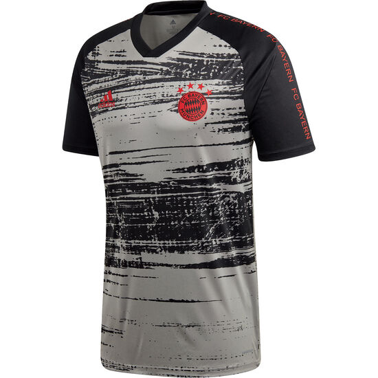 FC Bayern München Pre-Match T-Shirt Herren, schwarz / grau, zoom bei OUTFITTER Online
