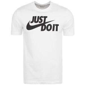 Just Do It Swoosh T-Shirt Herren, weiß / schwarz, zoom bei OUTFITTER Online