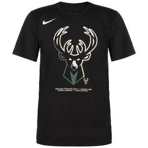 NBA Milwaukee Bucks Dry Logo T-Shirt Herren, schwarz / weiß, zoom bei OUTFITTER Online