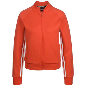 Must Haves 3-Streifen Trainingsjacke Damen, rot / weiß, zoom bei OUTFITTER Online