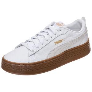 Smash Platform Leather Sneaker Damen, Weiß, zoom bei OUTFITTER Online