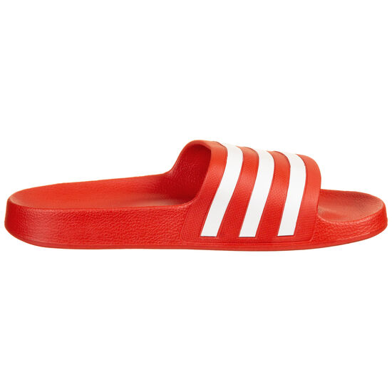 Adilette Aqua Badesandale, rot / weiß, zoom bei OUTFITTER Online