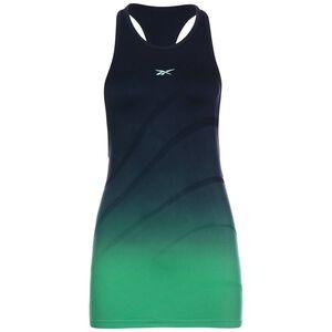 United By Fitness Seamless Trainingstank Damen, dunkelblau / grün, zoom bei OUTFITTER Online