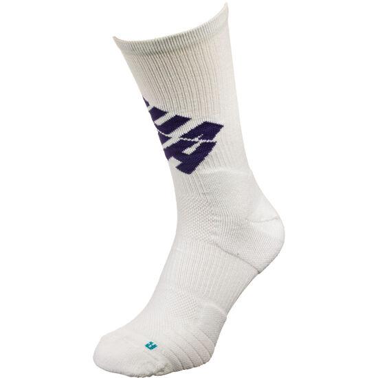NBA Charlotte Hornets Elite Crew Socken, weiß / dunkelblau, zoom bei OUTFITTER Online