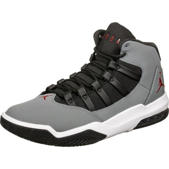 Jordan Max Aura Basketballschuh Herren, grau / schwarz, zoom bei OUTFITTER Online