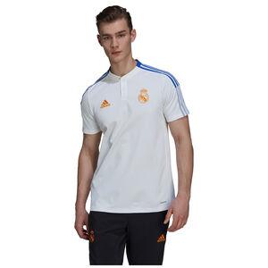 Real Madrid Poloshirt Herren, weiß / blau, zoom bei OUTFITTER Online