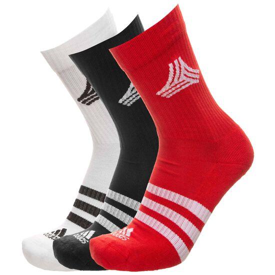 Football Street 3-Stripes Socken, rot / weiß, zoom bei OUTFITTER Online