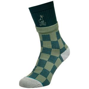 Stacked Palm Socken Herren, hellgrün / türkis, zoom bei OUTFITTER Online