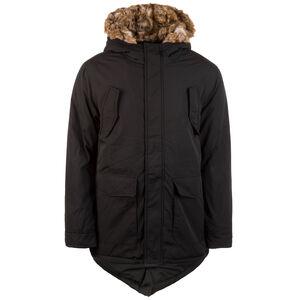 Hooded Faux Fur Parka Herren, schwarz, zoom bei OUTFITTER Online