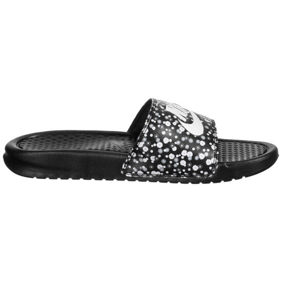 Benassi Just Do It Print Badesandale Damen, schwarz / weiß, zoom bei OUTFITTER Online
