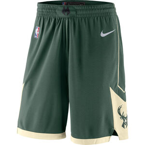 NBA Milwaukee Bucks Icon Edition Swingman Short Herren, dunkelgrün / beige, zoom bei OUTFITTER Online