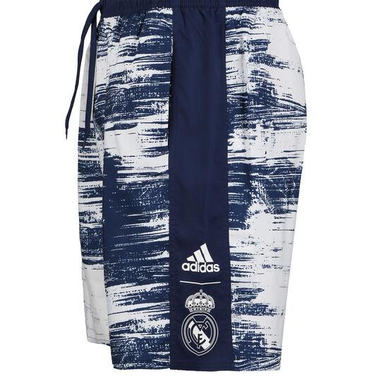 Real Madrid CLX Badeshort Herren, dunkelblau / weiß, zoom bei OUTFITTER Online