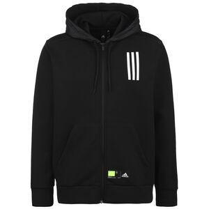 Overlay Full-Zip Trainingsjacke, schwarz / weiß, zoom bei OUTFITTER Online